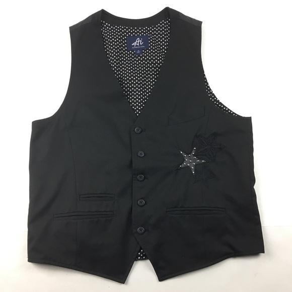 authentic icon Other - * Ai Authentic Icon Black Star Men's Business Vest
